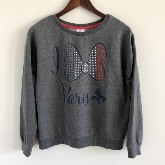 d7a652bca Disney Tops | Store Paris Minnie Bow Sweatshirt Size S | Poshmark